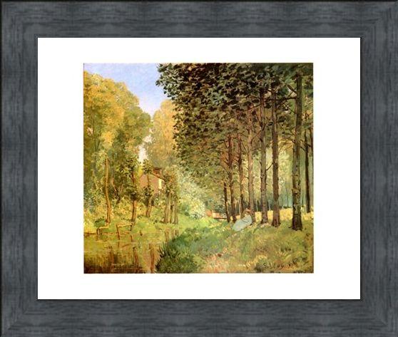 Framed Framed Le Repos Au Bord Du Ruisseau - Alfred Sisley
