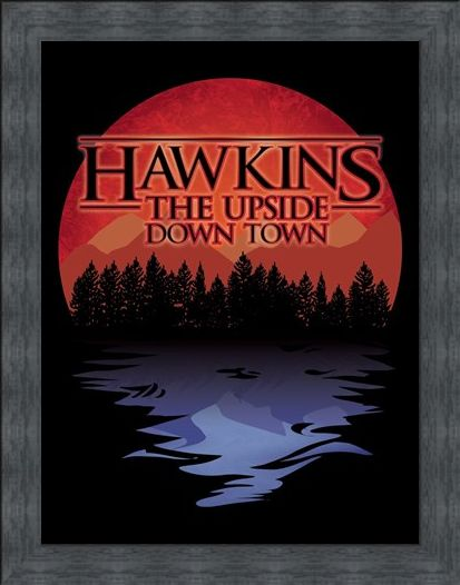 Framed Framed The Upside Down Town Mini Poster - Hawkins