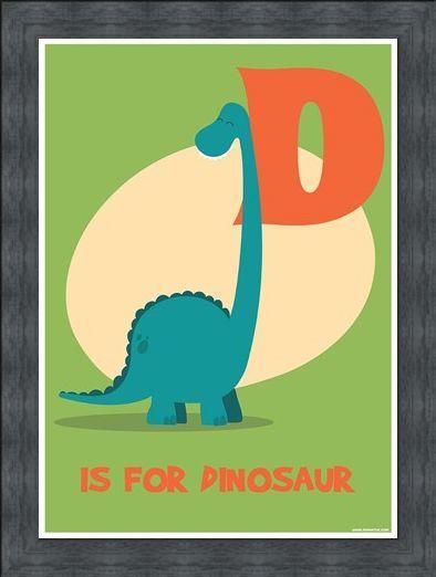 Framed Framed D Is For Dinosaur - Learning For Children