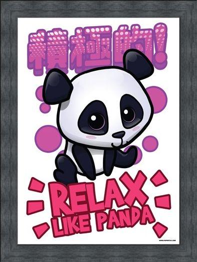 Framed Framed Relax Like Panda - Handa Panda