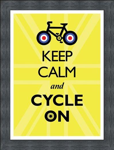 Framed Framed Keep Calm & Cycle On - Keep Calm & Carry On