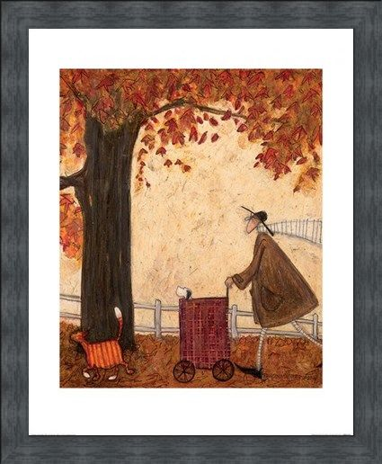 Framed Framed Following The Pumpkin - Sam Toft