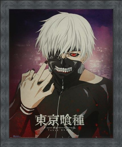 Framed Framed Kaneki Portrait - Tokyo Ghoul