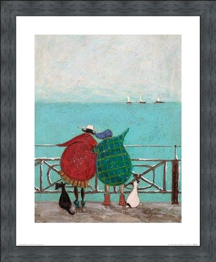 Framed Framed We Saw Three Ships Come Sailing By - Sam Toft