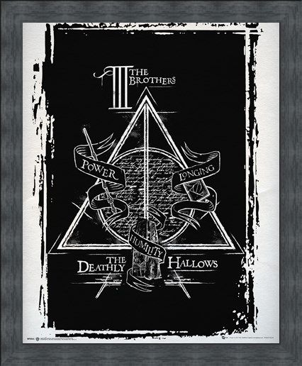 Framed Framed Harry Potter Deathly Hallows Mini Poster -