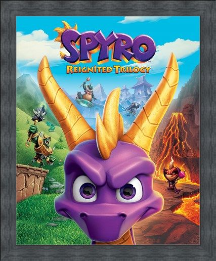 Framed Framed Game Cover Art - Spyro