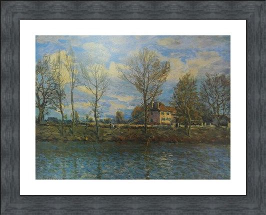 Framed Framed Island of The Grande Jatte - Alfred Sisley