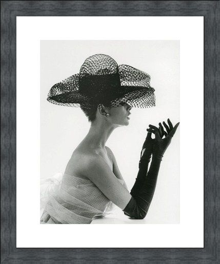 Framed Framed Madame Paulette in Net Hat 1963 - John French
