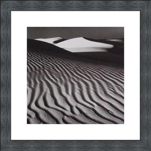 Framed Framed White Dune - Nicholas Pavloff