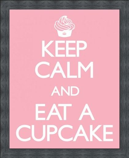 Framed Framed Keep Calm and Eat a Cupcake - Keep Calm and Carry On