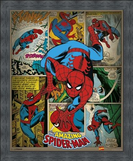 Framed Framed Comic Book Crusader - The Amazing Spider-Man