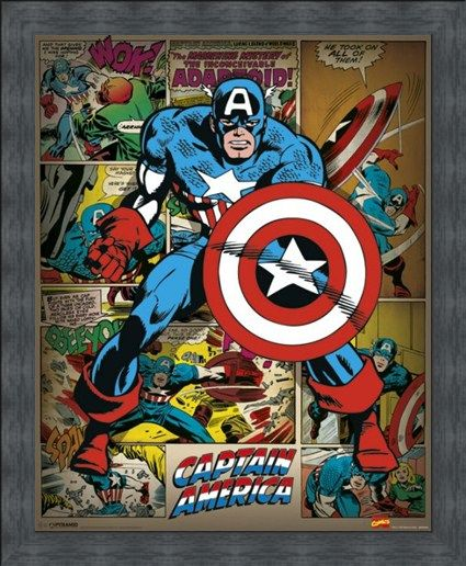 Framed Framed He Took On All Of Them! - Captain America