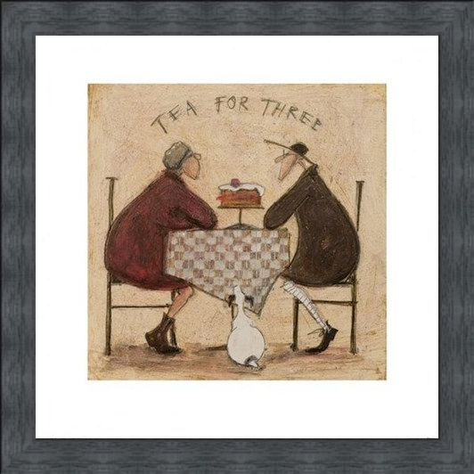 Framed Framed Tea for Three - Sam Toft