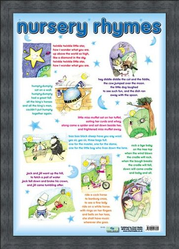 Framed Framed Nursery Rhymes - Traditional Nursey Rhymes for Children