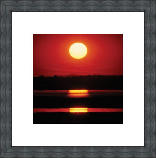 Framed Framed Triple Sunset - Reflections at Dusk