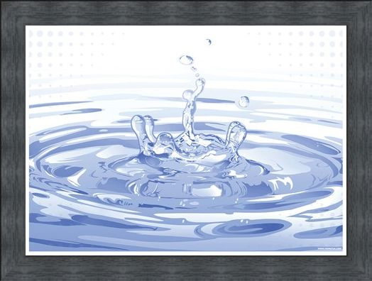 Framed Framed Ripples - Blue Splash