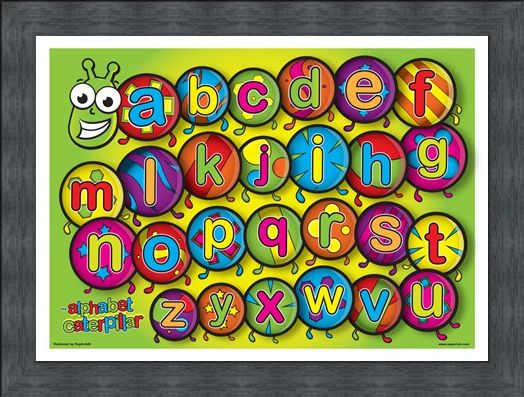 Framed Framed The Alphabet Caterpillar - Learn the Alphabet in Style