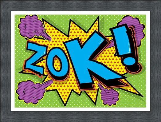Framed Framed Zok! - Pop Art Explosion