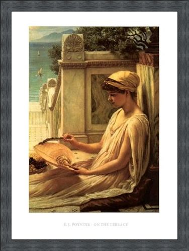 Framed Framed On the Terrace - Edward Poynter