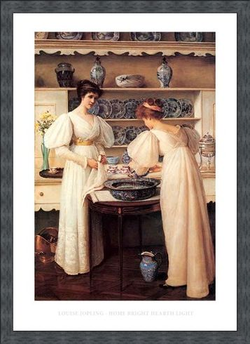 Framed Framed Home Bright Hearth Light - Louise Jopling