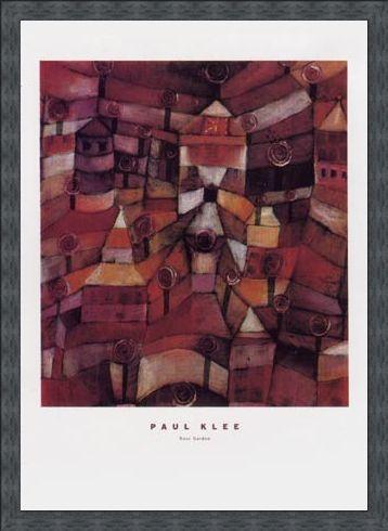 Framed Framed The Rose Garden - Paul Klee