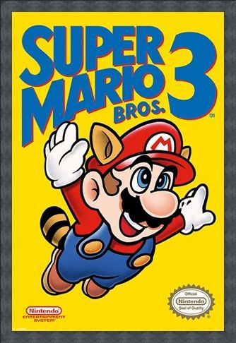 Framed Framed Super Mario Bros 3 - Retro Gaming