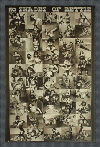 Framed Framed 50 Shades of Bettie - Bettie Page