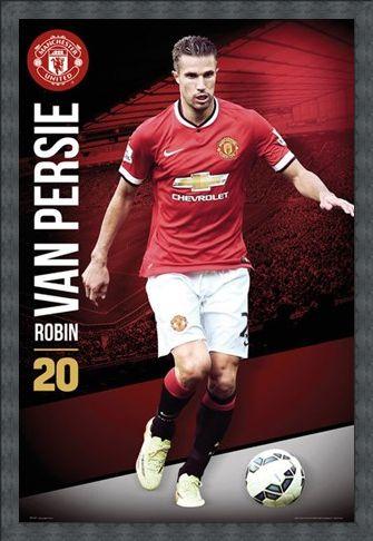 Framed Framed Robin Van Persie - Manchester United Football Club