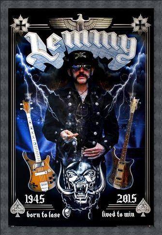 Framed Framed Lemmy Commemorative - Motorhead