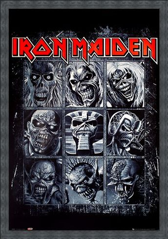Framed Framed Nine Eddies - Iron Maiden