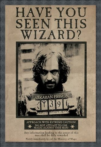 Wanted Sirius Black Harry Potter Poster Buy Online