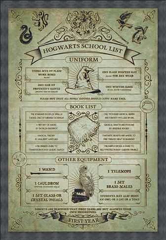 Framed Framed Hogwarts First Year Essentials - Harry Potter