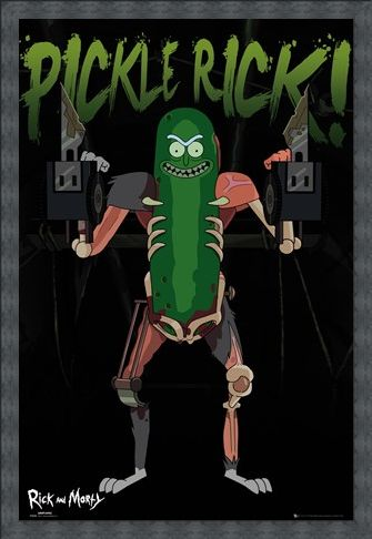 Framed Framed Pickle Rick - Rick and Morty