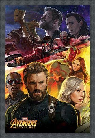 Framed Framed Infinity War Captain America - Avengers