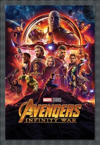 Framed Framed Infinity War One Sheet - Avengers