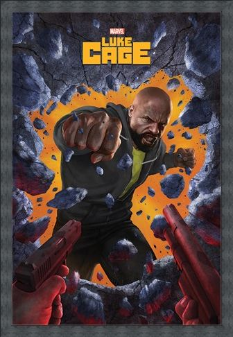 Framed Framed Wall Break - Luke Cage