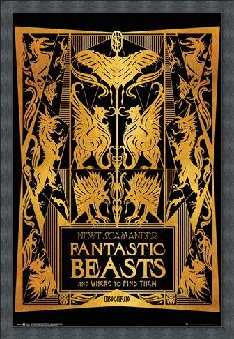 Framed Framed Book Cover - Fantastic Beasts