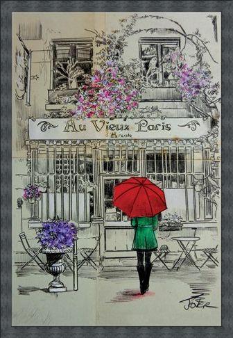 Framed Framed Au Vieux Paris - Loui Jover