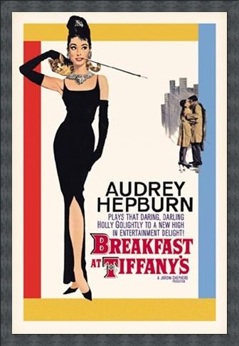 Framed Framed Audrey Hepburn stars in Breakfast at Tiffany's - Breakfast at Tiffany's