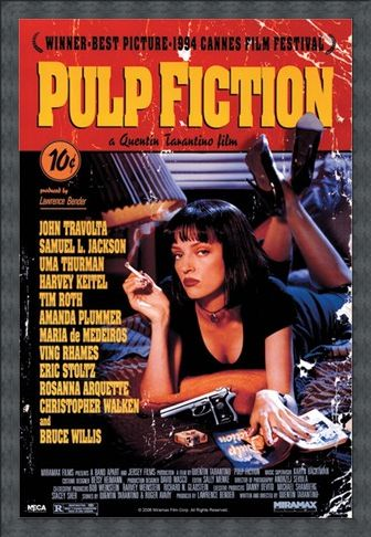 Framed Framed Movie One Sheet - Pulp Fiction