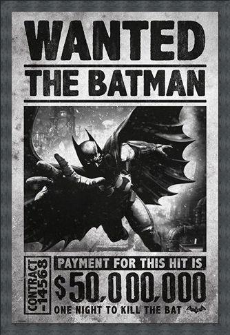 Framed Framed Wanted The Batman - Batman Arkham Origins