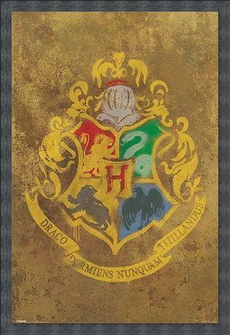 Framed Framed Hogwarts Crest - Harry Potter