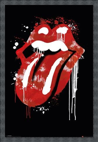 Framed Framed Graffiti Lips - The Rolling Stones