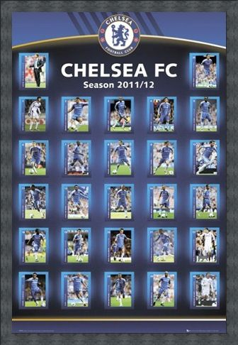 Framed Framed Squad Profiles 2011/12 - Chelsea Football Club