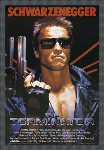 Framed Framed Arnold Schwarzenegger  is The Terminator - The Terminator