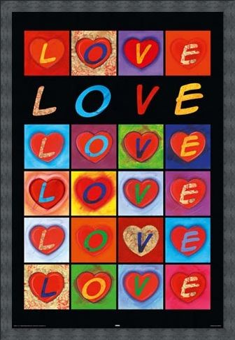Framed Framed Love Hearts - Love Collage