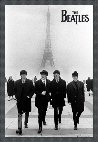 Framed Framed Liverpool Lads in Paris - The Beatles