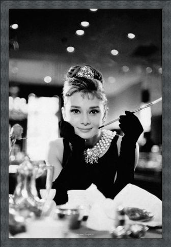 Framed Framed Audrey Hepburn is Holly Golightly - Breakfast at Tiffany's