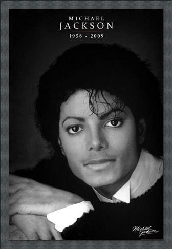 Framed Framed Black and White Portrait - Michael Jackson