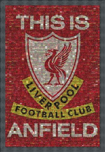 Framed Framed This Is Anfield - Liverpool FC Photomosaic